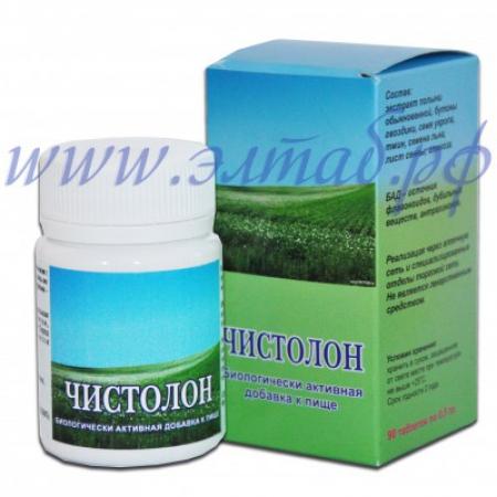 ЧИСТОЛОН - фитокомплекс для очищения организма, 90 таб. по 0.5гр.