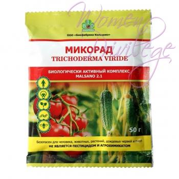 МИКОРАД MALSANO (ТРИХОДЕРМИН), органическое торфогуминовое удобрение для защиты растений от болезней, 50 г
