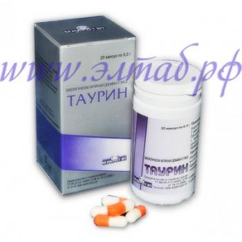 ТАУРИН-дополнительный источник сульфоаминокислоты, 20капс.